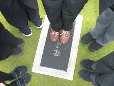 Under 12s 2 Juniper Green Primary Class 6b Feet on the bowling green