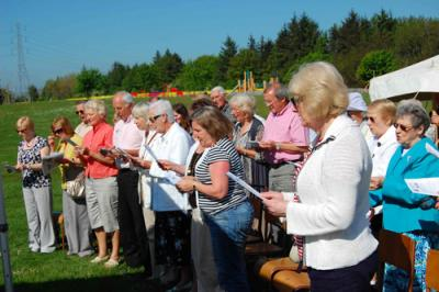 Church service in Park 26 May 12