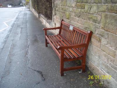 Refurbished bench in Lanark Road