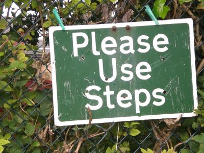 Please use steps