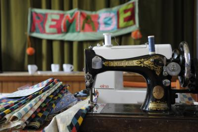 Sustainable sewing at the Energy Fair
