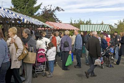 The first farmers' market in full swing