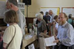 Diverse stalls at Juniper Green's Energy Fair
