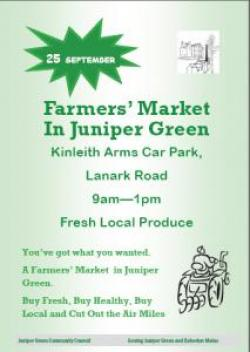 Flyer for first farmers' market